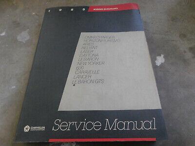 1985 Dodge Chrysler Omni Charger Laser Daytona Horizon Wiring Diagrams Manual Ebay
