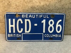 Vintage 1985 British Columbia License Plate