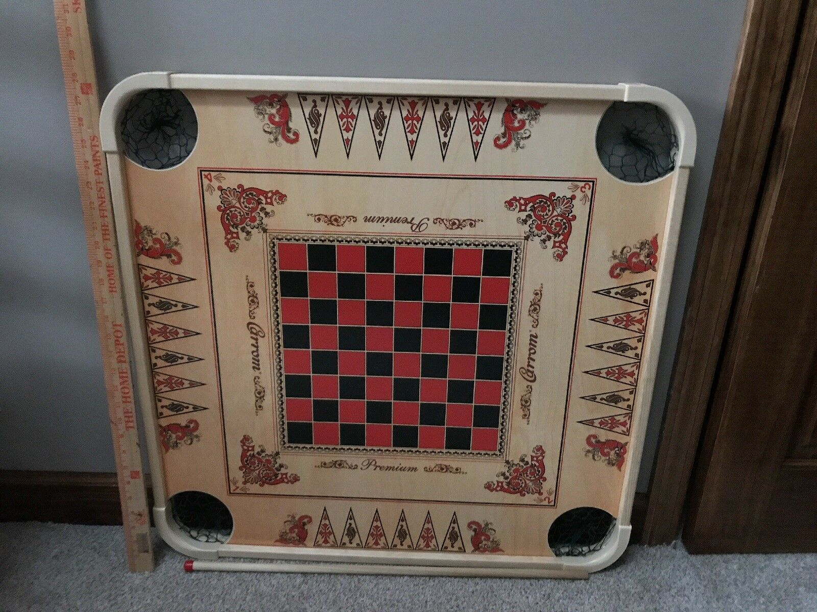 27.5  Large Carrom Wooden Board Game With Coins And Striker