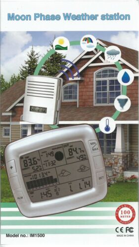 Digital Weather forecast station with  Sunrise and Sunset times and moon phase