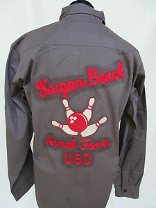 Us-Army-U-S-o-Saigon-Cuenco-Armed-Forces-Tour-Bowling-Camisa-101st-Airborne-2