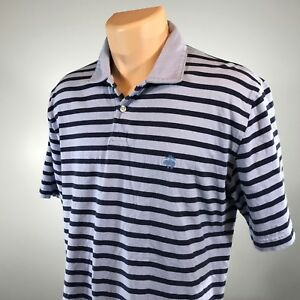 Brooks-Brothers-L-Polo-Mens-Shirt-Size-Large-Golden-Fleece-Short-Sleeve-Blue