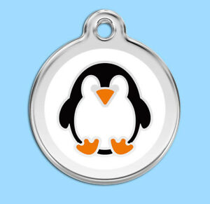 Penguin-Engraved-Dog-Cat-ID-identity-Tags-discs-by-Red-Dingo-1PE