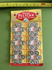 OLD RETRO VINTAGE 50s NEWEY'S PELICAN SPRING SNAP FASTENER BNOC collectable sz 4