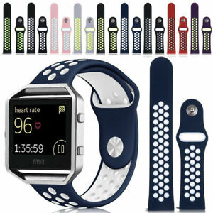 Replacement-Silicone-Sport-Band-Bracelet-Strap-Frame-For-Fitbit-Blaze-Tracker