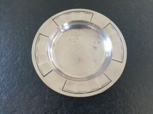Christofle Gallia dessous de bouteille coupelle en métal argenté modèle Art Déco