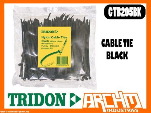 TRIDON CTB205BK CABLE TIE NYLON UV 500 PACK SIZE 5MM X 200MM BLACK