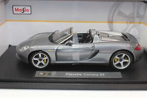 Maisto 36622 Porsche Carrera Gt Métal Argenté Premiere Edition 1:18