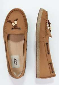 d4b4a2b1143 Details about UGG SUZETTE CHIVON NUBUCK LEATHER SLIP ON MOCCASINS SHOES -  UK SIZE 5 - CHESTNUT
