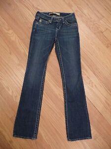 489fedd2ab0 Womens Big Star Hazel Curvy Fit Boot Cut Stretch Denim Jeans Size 25 ...