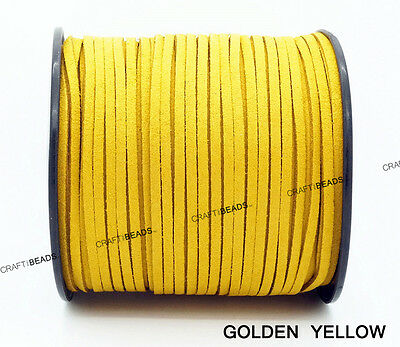3mm x 1.5mm Faux Suede Cord Leather Lace Beading Thread Bracelet Necklace Making