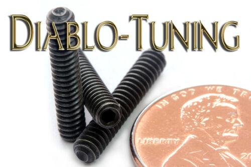 #6-32 x 3/4 - Qty 10 - Socket SET / GRUB SCREWS Cup Point - Black Alloy Steel