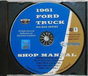 1960-1963 FORD FALCON RANCHERO MERCURY COMET SHOP SERVICE MANUAL ON CD-ROM NEW