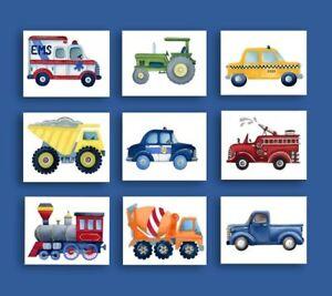 Car Truck Airplane Boy Nursery Wall Art