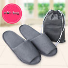 Closed Toe Hotel Slippers Spa Guest No Disposable Travel Household Shoes + Bag