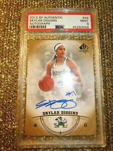 Skylar-Diggins-2013-UD-SP-Authentic-WNBA-Notre-Dame-Signed-Autograph-Auto-PSA-9