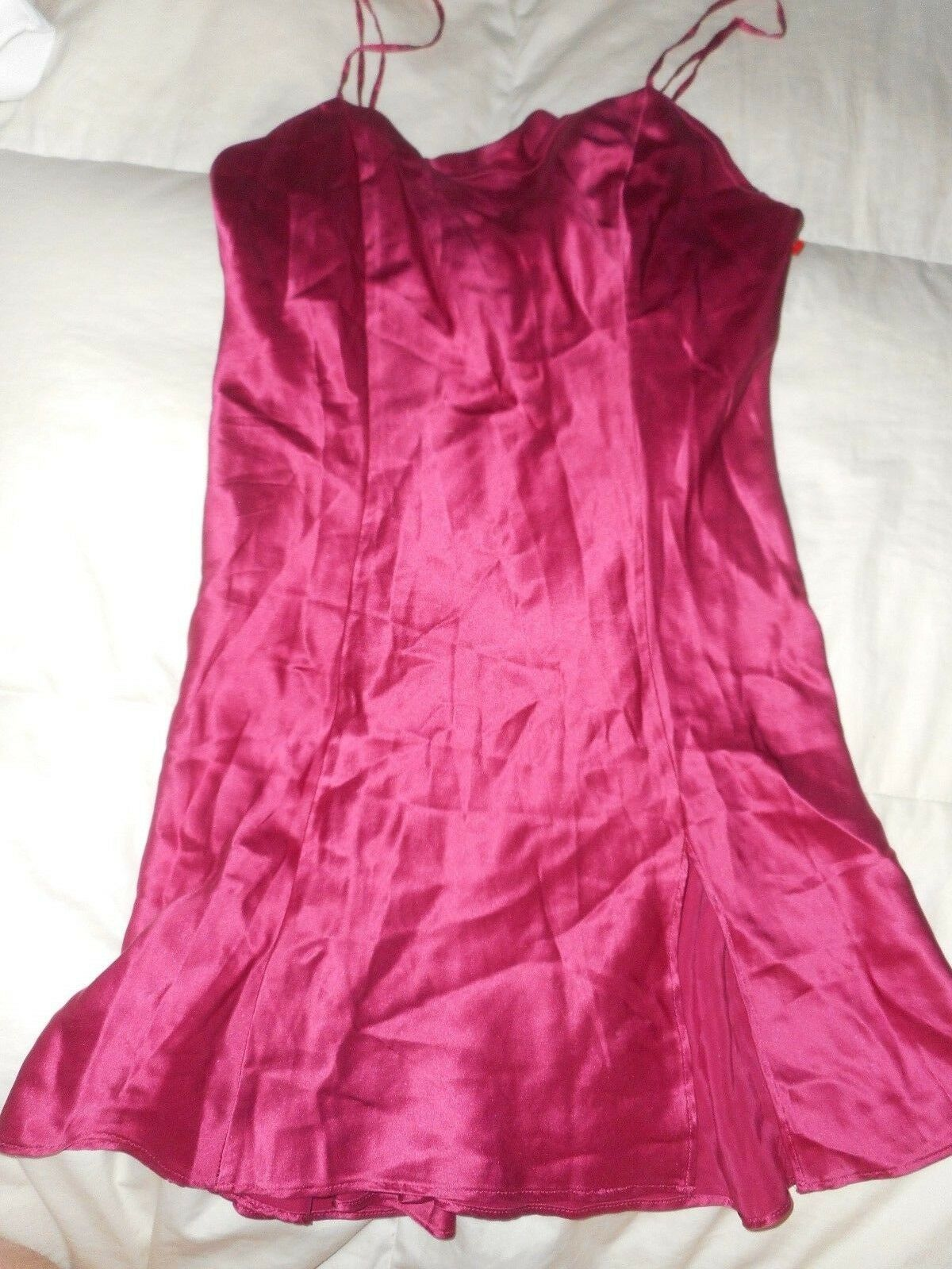 Victoria\'s Secret Cranberry Red Nighty Night Gown Size S ...
