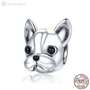 Charm-Anhaenger-w-f-Pandora-Hund-Franzoesische-Bulldogge-Bully-925-Sterlingsilber