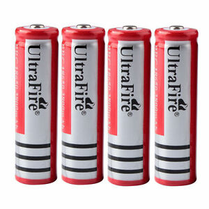 4PCS 3800mAh 3.7V 18650 Rechargeable Li-ion Battery for Headlamp Flash-light NEW