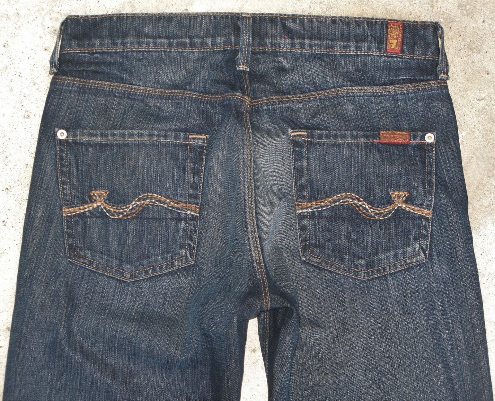 7 For all Mankind Slimmy Jean Mens Sz 30 X 33 Slim Straight 100% Cotton NEW