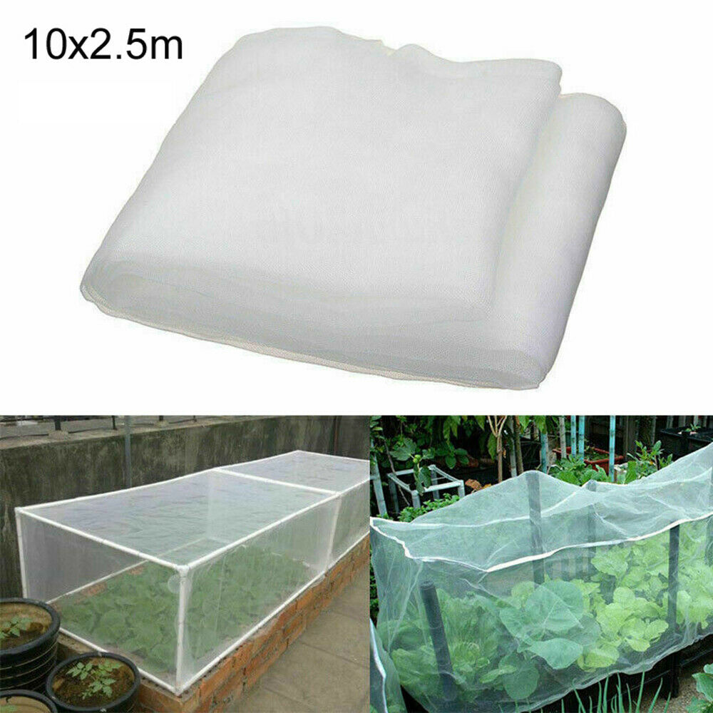 10M Garden Netting Bird Insect Mesh Cloth Plant Crops Protective Net White XE