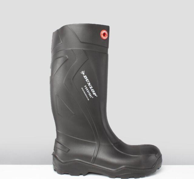 44 Dunlop Purofort Thermo Orange Wellington Boots Size 10