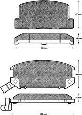 Brake Pads Set fits TOYOTA MR2 AW11 1.6 Rear 84 to 90 B/&B 0446617090 0446617010