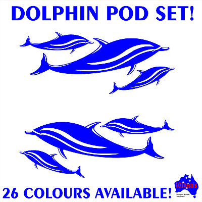 "Dolphin Vinyl Car Boat Sea Life Ocean Surf Sticker Size 6"" /& 8"" Truck Decal"