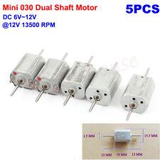 5pcs Dc 6v 12v 13500rpm High Speed Dual Shaft Mini 030 Motor Diy Toy Train Model