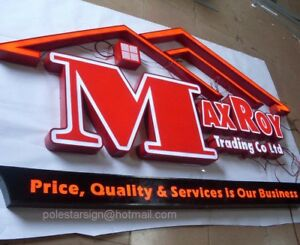 Details about Customized LED Channel Letter Stainless Steel Sign Shop Signs  Commercial Logo