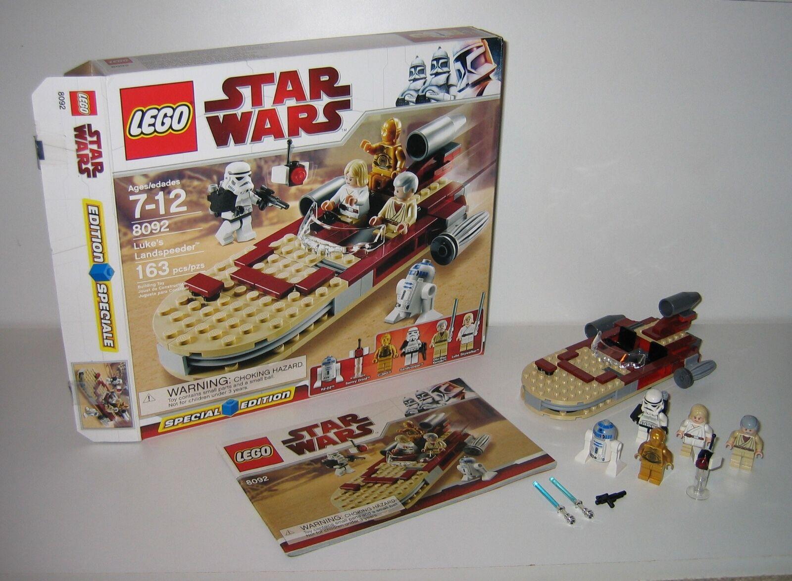 8092 LEGO Star Wars Luke's Landspeeder 100% Complete Box & Instructions EX COND