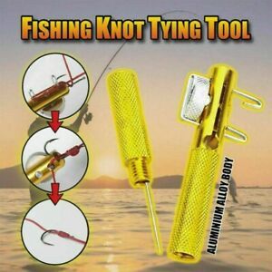 Fishing Knot Fast Tying Tool Line Clippers Snip Hook Tier Nipper Cutter Nail UK