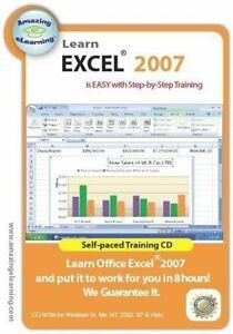 Learn Microsoft Excel 2007    Software Training Tutorial   Brand New Sealed
