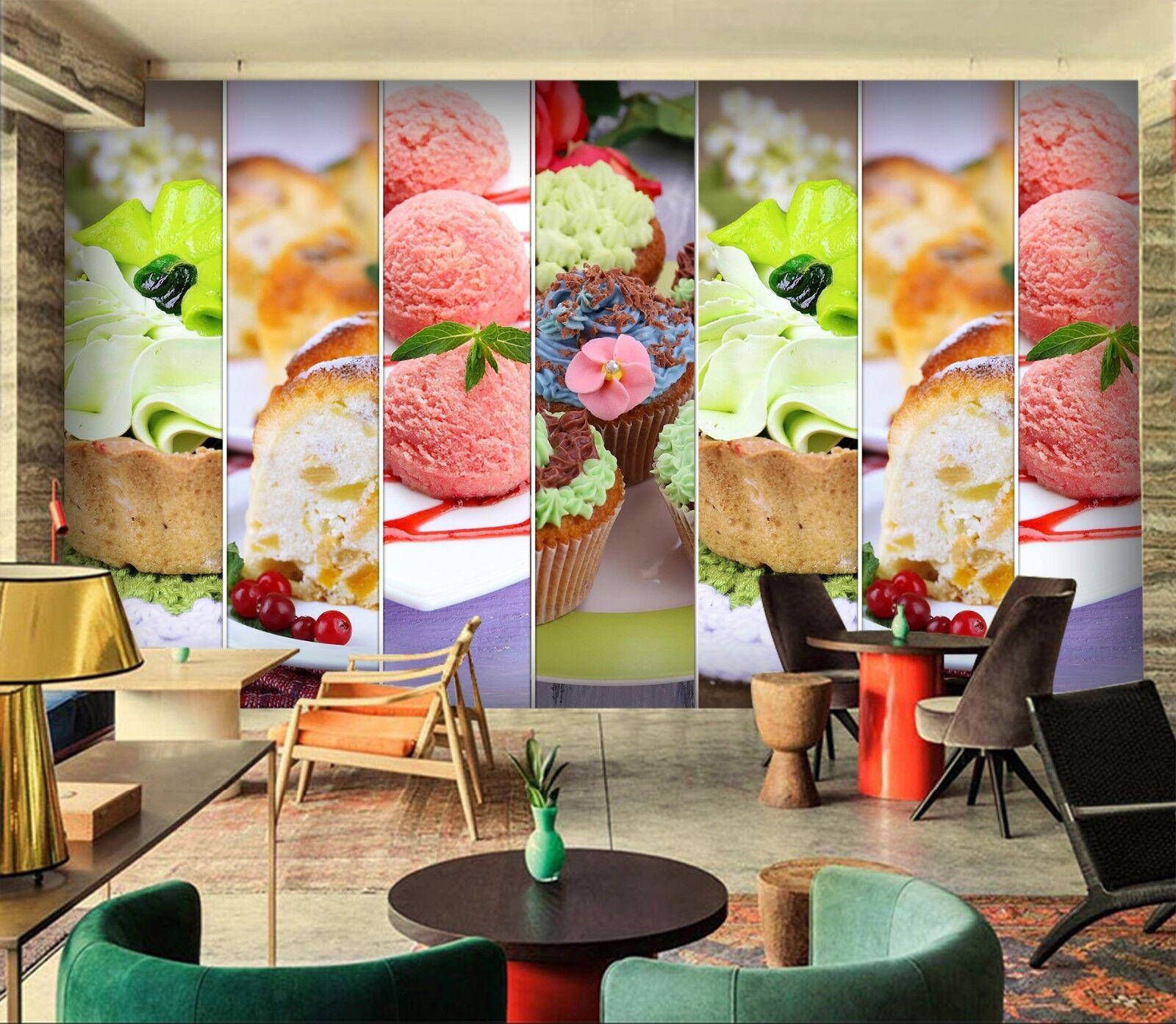 3D Food Dessert 7198 Wallpaper Mural Wall Print Wall Wallpaper Murals US Lemon