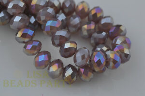 30pcs-10x7mm-Rondelle-Faceted-Loose-Crystal-Glass-Beads-Jade-Purple-AB-Crafts