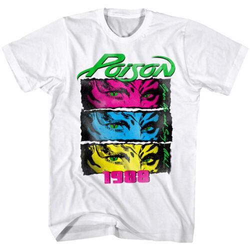 POISON Open up and Say Ahh concert tour 1988 Hommes T Shirt Album Cover Vintage