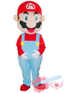 Super Mario/& Luigi 2pcs Mascot Costume Party Fancy Dress Cartoon Suit Adult Size