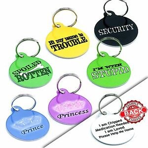 funny pet tags cute dog name id tags waterproof dog collar tag