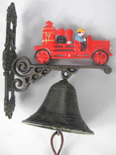 "Wandglocke aus Gusseisen /""Feuerwehr/"" Höhe 25cm Türglocke Glocke"