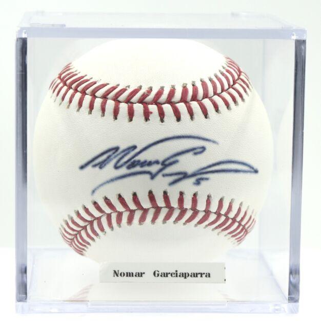 Nomar Garciaparra Dodgers Red Sox Cubs A's Autographed ROMLB Baseball PSADNA COA