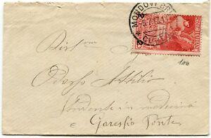 1913-Cinquantenario-dell-039-Unita-d-039-Italia-2-su-10-cent-su-Busta-viaggiato-isolato