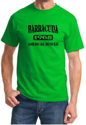 1965 Plymouth Barracuda American Muscle Car Classic Design Tshirt NEW FREE SHIP