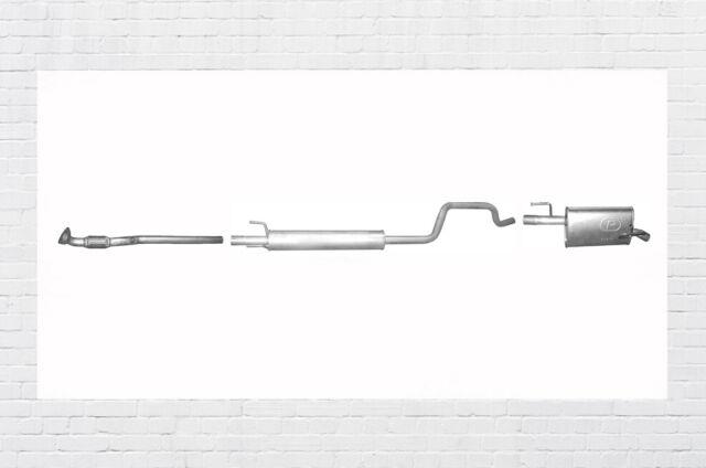 Opel Meriva A 1.4 Twinport Auspuffanlage Auspuff Mitteltopf Endtopf Hosenrohr