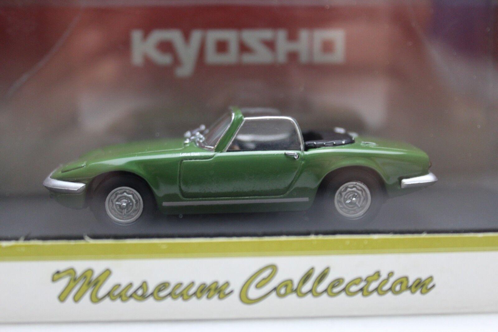 KYOSHO Lotus Elan S3 Open Green Museum Collection 1 43 Model Car New 03041G