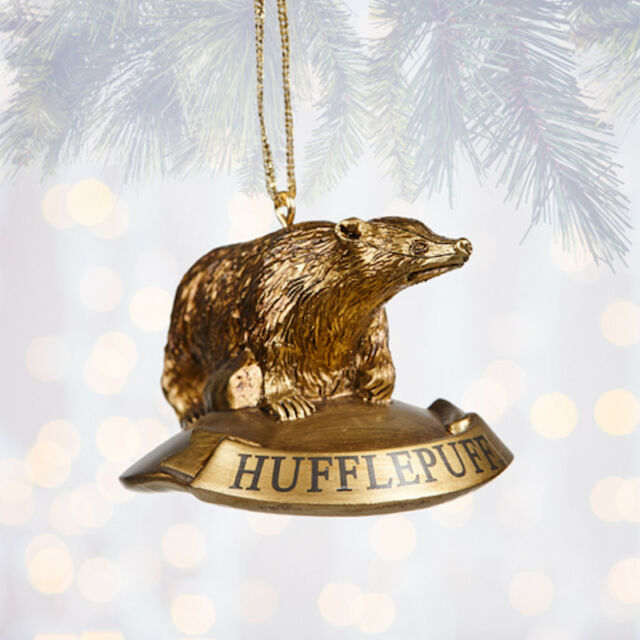Wizarding World of Harry Potter Holiday Ornament Mascot Hufflepuff Badger