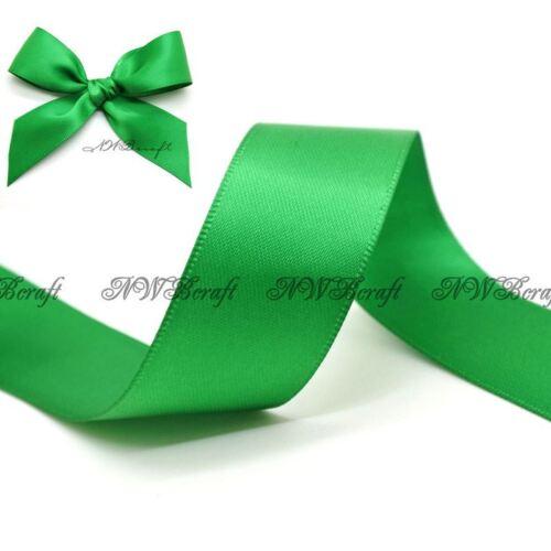Emerald doble cara cinta de raso 3mm 6mm 10mm 16mm 22mm 28mm 50mm