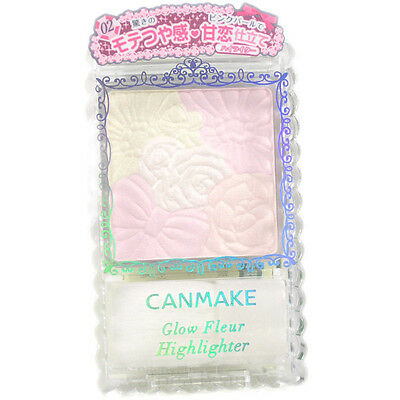 Canmake Japan Glow Fleur Highlighter Blush Palette with Soft Brush Applicator