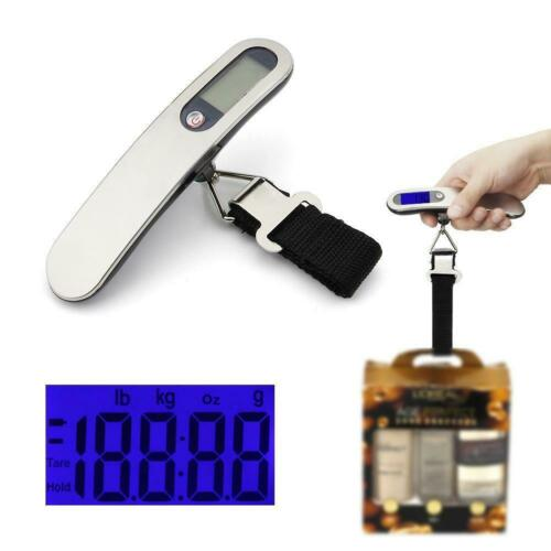 Details about  /Electronic Portable Digital Luggage Scale Weigh Hanging Travel 50Kg//110lb TX