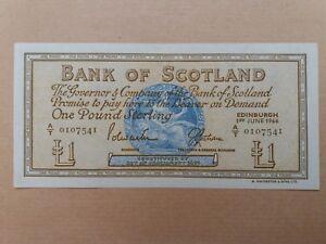Scotland-1-Pound-1st-June-1966-UNC-A-T-0107541