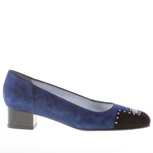 Pump Multicolor Chaussures Ouvra Cannes Blue Strass Azuree Suede With Femme 8UY6cWyB